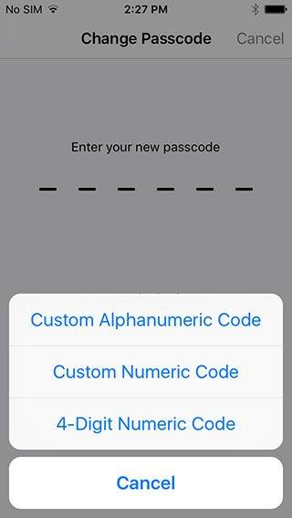 пароль ios 9