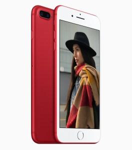Apple представила красный вариант iPhone 7