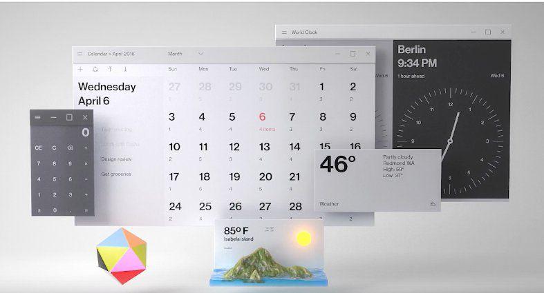 Microsoft показала, как Windows 10 будет выглядеть в будущем году
