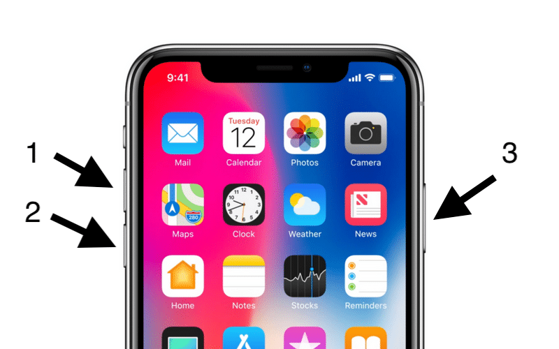 iPhone-X-Hard-Reset-Buttons