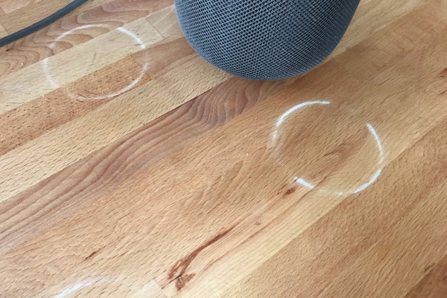 HomePod leaves white traces on wooden furniture