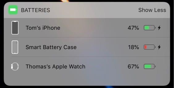 iPhoneX-batterycase-batterywidget