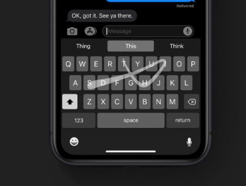 iOS-13-Gesture-Typing