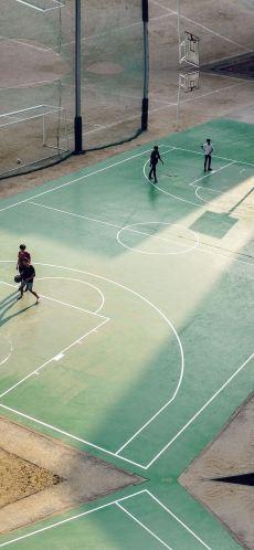 sports-wallpaper-basketball-green-city-sports-art-nba-iphone-X