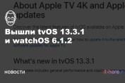 tvOS 13.3.1 и watchOS 6.1.2