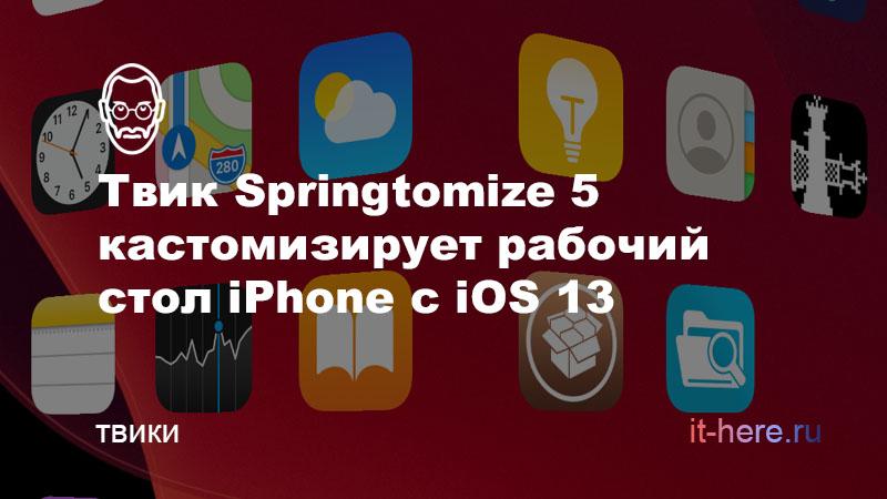 Твик Springtomize 5 кастомизирует рабочий стол Phone с iOS 13