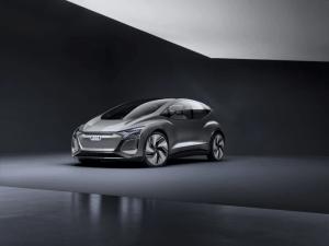 , Audi AI:ME konceptbil er automatiseret kørsel til megabyer