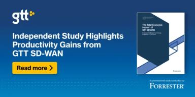 Uafhængig undersøgelse fremhæver produktivitetsgevinster ved GTT SD-WAN 1