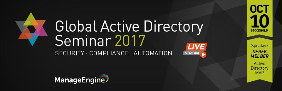 Global Active Directory Seminar 2017 1