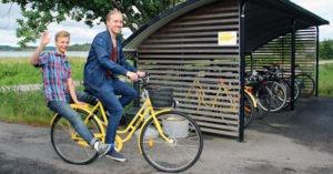Tekniksprångarna utvecklade en webbtjänst för utlåning av cyklar till Hogias medarbetare 1