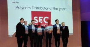 SEC utnämnda till Polycom Distributor of the Year! 1