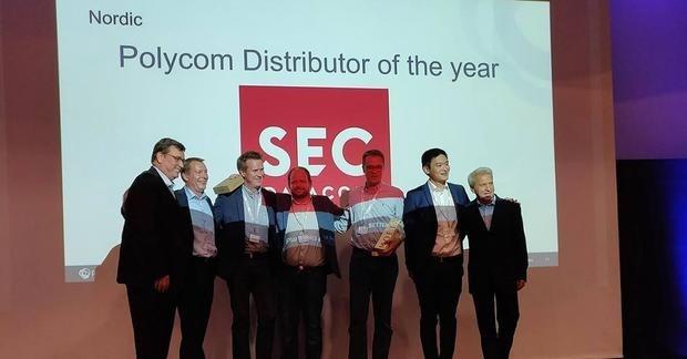 SEC utnämnda till Polycom Distributor of the Year!
