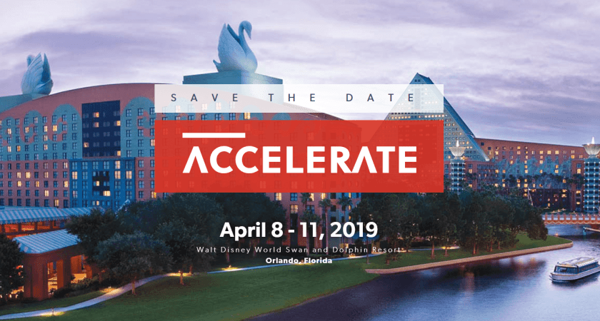 Save the dates Accelerate 2019