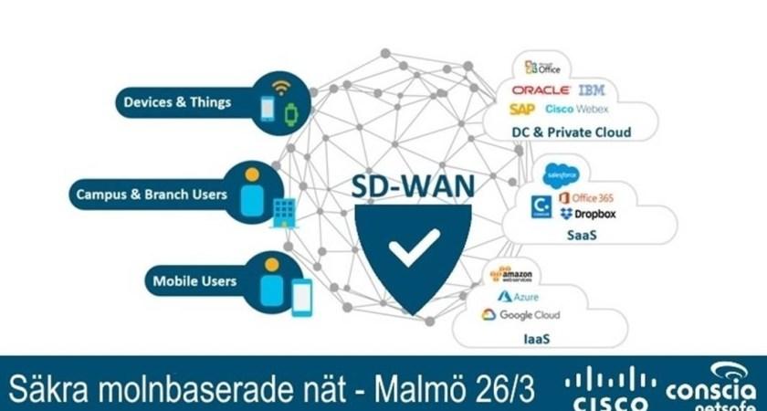 Molnbaserade SD-WAN – smidigare nätverk nu med ökad säkerhet – Malmö 26/3