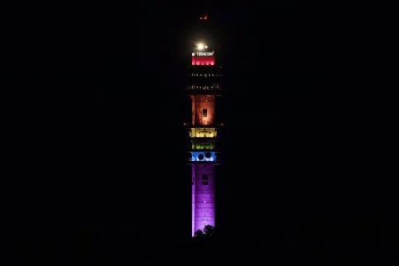 Kaknästornet blir regnbågstornet under Stockholm Pride 1