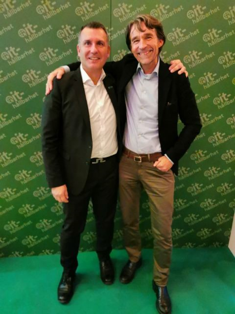 Andreas Baxivanos HPE PN Channel Country Manager  och Raoul Stubbe Co-Founder at Single Technologies