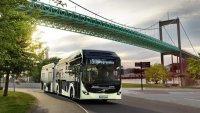 Volvo Bussar demonstrerar elektrisk autonom lösning i bussdepå