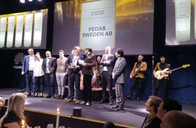 Boråsföretag vinnare av Gulddraken vid Huawei Nordic Partner Summit Horizon