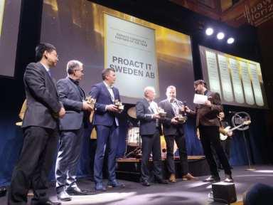 10 vinnare av Gulddraken vid Huawei Nordic Partner Summit Horizon 1