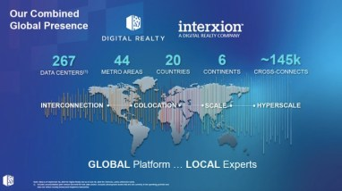 Digital Realty slutför samgåendet med Interxion 1
