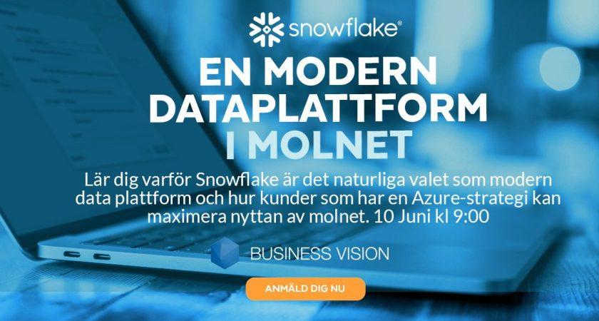 Snowflake – modern dataplattform -Sweden