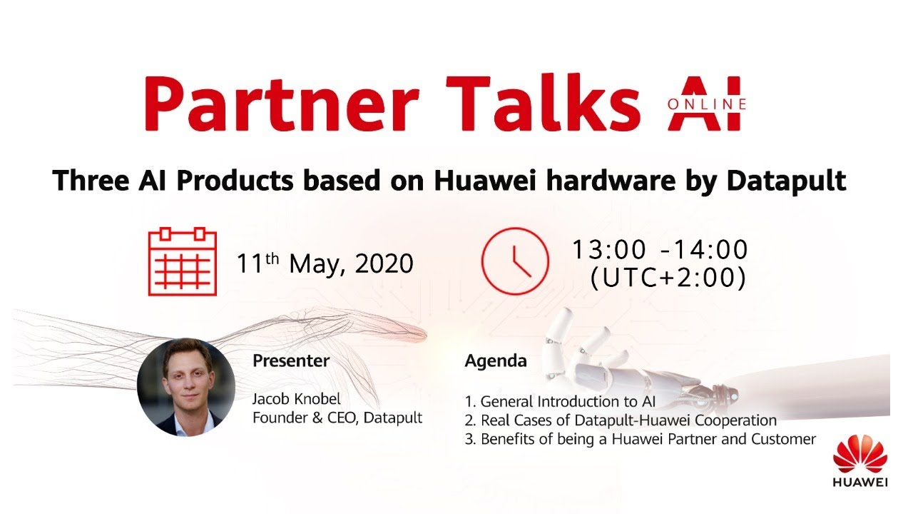 Partner Talks AI  - Three AI Products based on Huawei hardware by Datapult 1