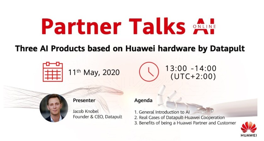 Partner Talks AI  – Three AI Products based on Huawei hardware by Datapult
