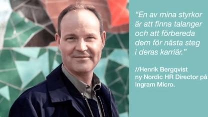 Henrik tar plats i Ingram Micros nordiska HR-team 1