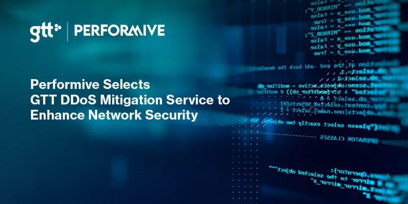 Performive väljer GTT:s DDoS Mitigation tjänst för att förbättra nätverkssäkerheten 1