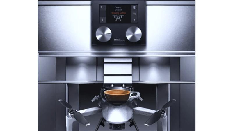 Världens första AI kaffemaskin med stöd för drönare: Office Management lanserar O.M Coffee Drone