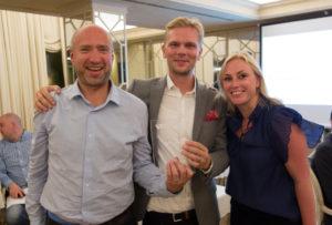 Mats Johansson RTS, Magnus Backman och Anna-Maria Löweberg VMware