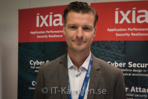 Håkan Holmgren, nordisk säljchef hos Ixia .