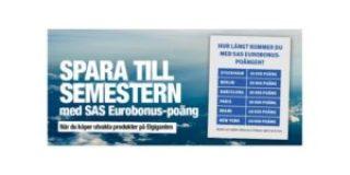 SAS EuroBonus-poäng på köpet hos Elgiganten 1