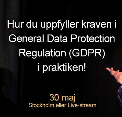 Bara 1 år kvar att förbereda inför nya dataskyddsförordningen, GDPR!