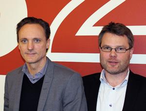 Johnas Hartmann och Jonas Danielsson, B2B IT-partner