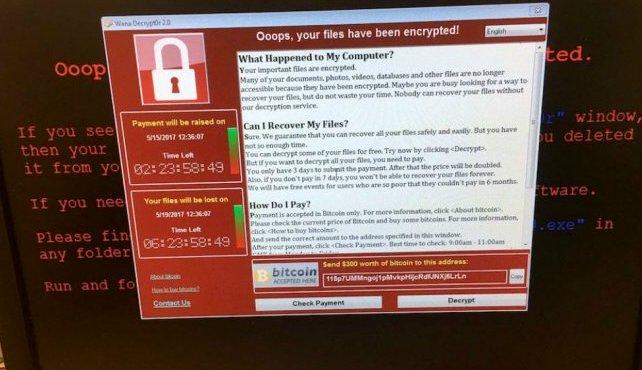 Mer än 185000 datorer infekterade av WannaCry-viruset