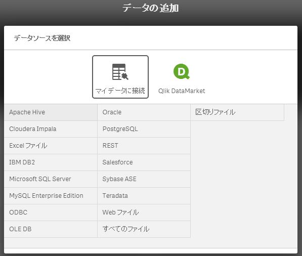 Qlick Sense データ取込