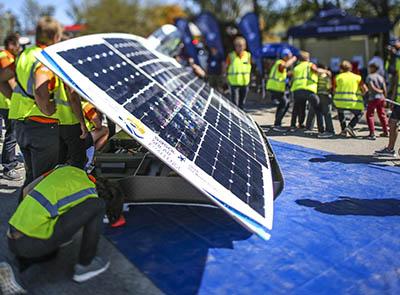 Solar car teams close to record
