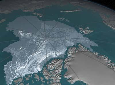 Arctic sea ice losing its bulwark