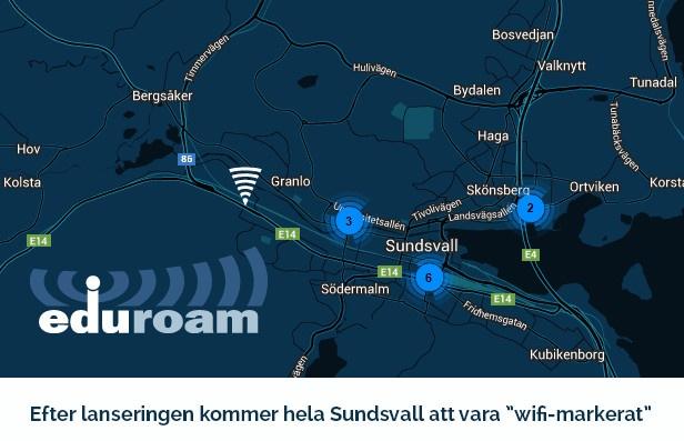 Sundsvall först i Sverige med storskalig lansering av globalt nätverk – internet utan inloggning