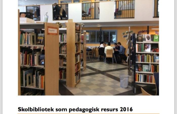 Bemannade skolbibliotek inspirerar – men likvärdigheten fortfarande låg