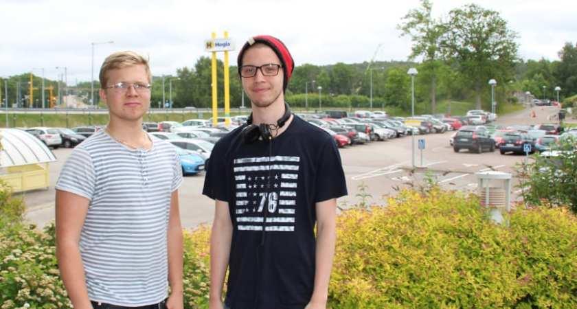 Tekniksprångarna Eric och David löste Hogias parkeringsbrist