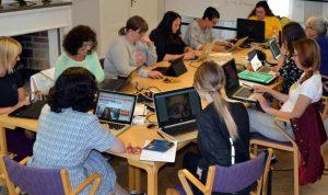 Wikipedialäger på folkhögskolan i Molkom 1