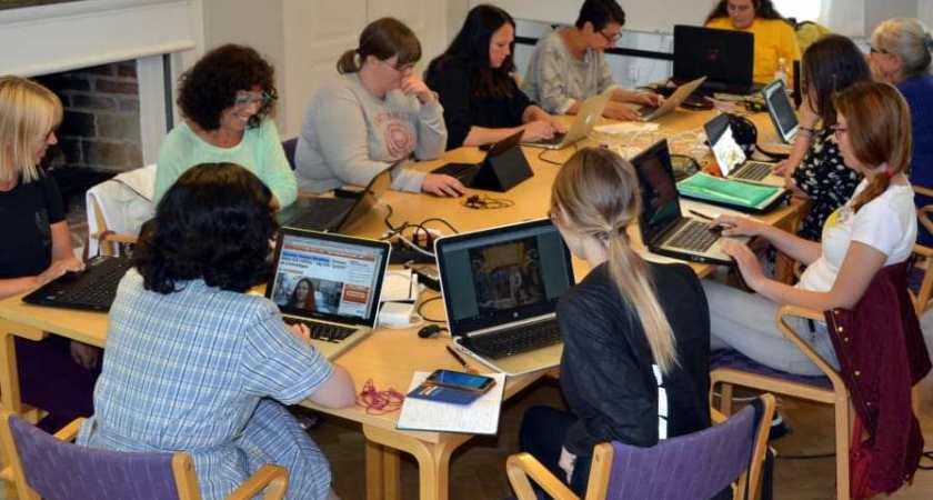 Wikipedialäger på folkhögskolan i Molkom