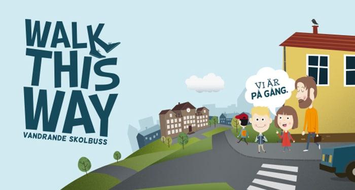 Gå eller cykla med barnen till skolan så blir de piggare och friskare!