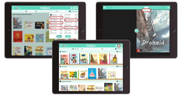 Ny version av Polyglutt – fem nya språk i appen