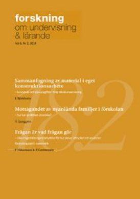 Nytt nummer av Forskning om undervisning och lärande, volym 6, nr 2 2018 1