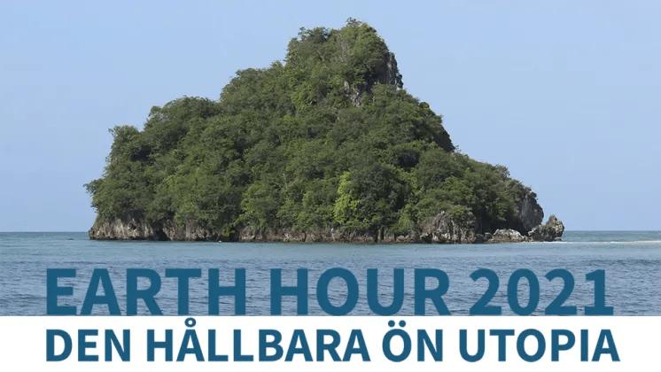Elever befolkar öde ö i samband med Earth Hour