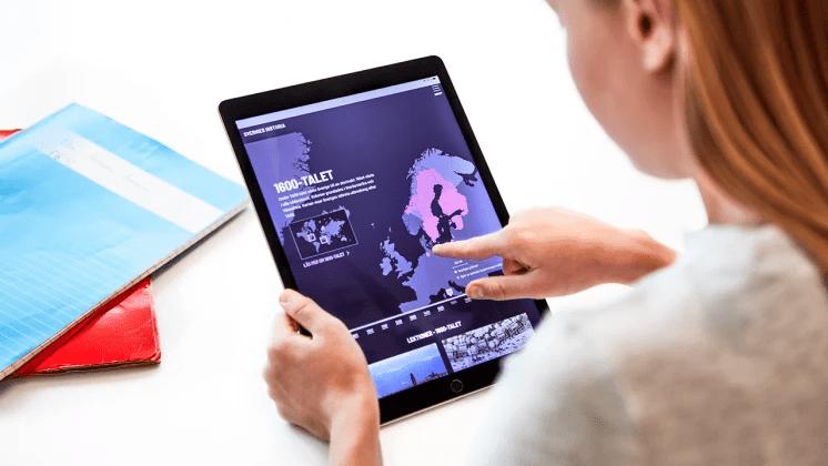 Digitala undervisningsresursen Sveriges Historia nu i Skolons utbud
