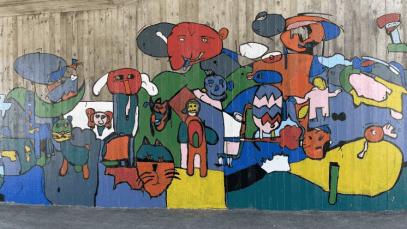 Flinka gatukonstnärer i årskurs 3 sprider glädje i Furulund